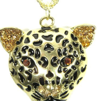 Leopard Necklace Spotted Cheetah Safari Cat NE34 Jungle Panther Africa Charm Fashion Jewelry