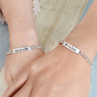 2pcs/set His Doe Her Buck Couple Bracelets