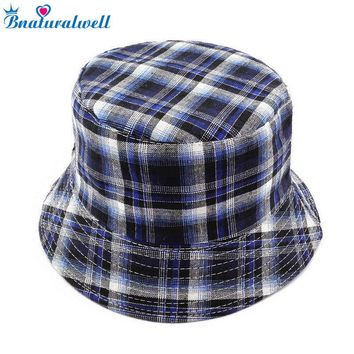 Bnaturalwell Boys summer hat Bucket sun hat for boys Kids Panama hat Children bucket cap photo prop reversible 1pc BS022S
