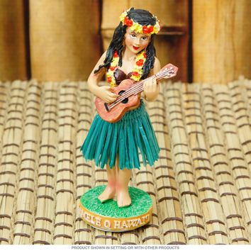 Namele Ukulele Hawaiian Girl Dashboard Hula Doll