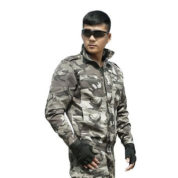 Men's Camouflage Suit Hunting Outfit Clothes Multicam Army Military Tactical Jackets+pants US Combat Uniforms Ghillie Costume