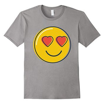 Love Emoji T-Shirt Heart Eyes Smiley Emoji Shirt