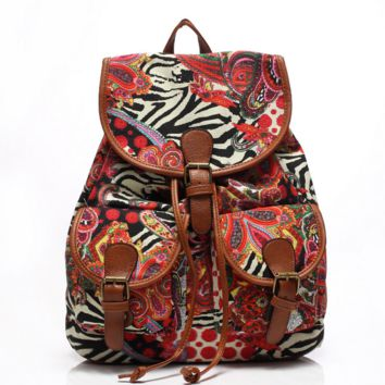 Cute Painting Large College Backpacks for School Bag Canvas Daypack Travel Bag