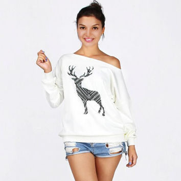 Women's Fashion Long Sleeve Christmas Sexy Hoodies [9307402564]