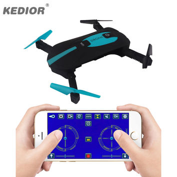 Foldable Pocket Selfie Drone With Camera HD FPV Wifi Quadcopter Phone Control Fly Helicopter Mini Drone
