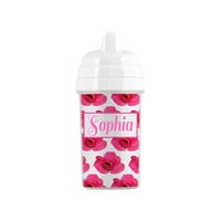 Personalized Rose Pattern Sippy Cup