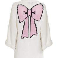 WILDFOX  Picnic Slouch White Oversized knit cardigan - Cardigans
