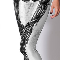 Leg Bones Leggings in White