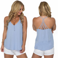Long Distance Top In Periwinkle