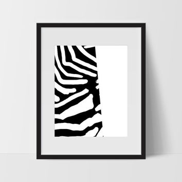 Abstract Wall Art, Black and White Modern Art