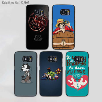 Targaryen Game of Thrones design hard black phone Case Cover for samsung galaxy s7 s6 edge s3 s4 s5 mini Note5432