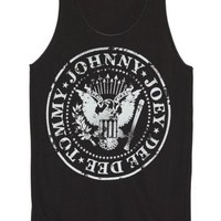 Ramones Johnny Joey Dee Dee Tommy Punk Music Band Tank Top Tunic Top Vest Shirt