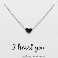 Valerie I Heart You Necklace with Heart Charm