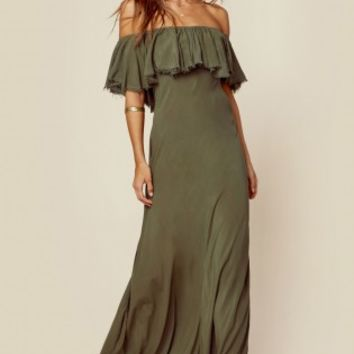 APHRODITE RUFFLE MAXI DRESS