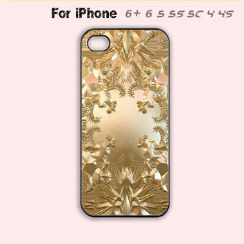 Kanye West Jay-Z Gold Album Cover Case iPhone 4 4s 5 5s 5c 6 + Plus Gold Cover-5 Colors Available