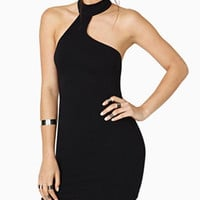 Black  Halter Bodycon  Mini Dress