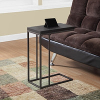 ACCENT TABLE - CAPPUCCINO / BRONZE METAL