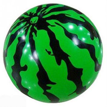 Inflatable Watermelon Shaped Ball Blowup Panel Beach Ball Holiday Party Swimming Garden Toy