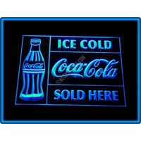 Coca-Cola Ice Cold Sold Here Bar Pub Restaurant Neon Light Sign