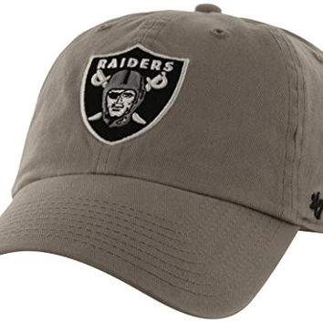 NFL Oakland Raiders '47 Brand Clean Up Adjustable Hat, Steel, One Size