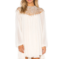 Free People Macrame Dress in Almond