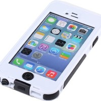 iBeek iPhone 6 4.7 inch Full-body Protective Case Waterproof Shockproof Dustproof Snowproof Case Cover (White)