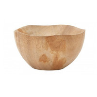 Hand Carved Wood Cocoon Bowl