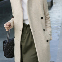 Wool coat wool coat fashion coat LK1211BH