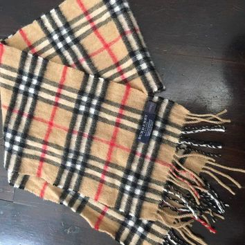 DCCKIN2 Authentic Burberry 100% Cashmere Scarf