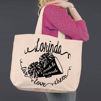 Cheer   Personalized Canvas Tote Bag