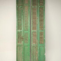 Pair Antique French Window Shutters