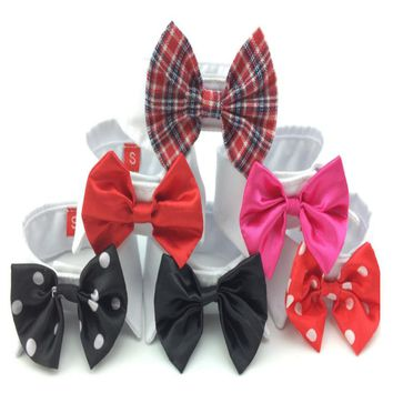 Pet Supplies Red Colors Cats Dog Tie Wedding Accessories Dogs Bowtie Collar Holiday Decoration Christmas Grooming