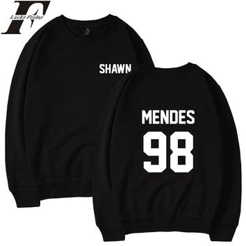 LUCKYFRIDAYF 2017 Shawn Mendes Harajuku Casual O-Neck Pullover Hoodies Men/Women Sweatshirt Streetweat Winter Anime Logo Hoodies
