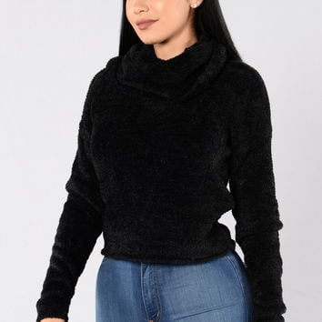 On The Grind Sweater - Black