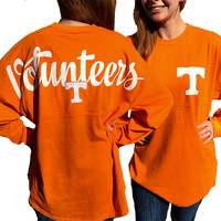 Tennessee Vols Volunteer Women's Logo Sweeper Long Sleeve Oversized Top Shirt