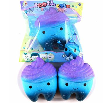 Fahion Tooth Squeeze squishy toys Slow Rising Fun Novelty Gag Tooth Toy Relieve Stress Toy Gift for kids Jouet Enfant