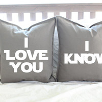 "Star Wars ""I Love You/I Know"" Pillow Cover Set"