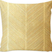 Gold textured throw pillow