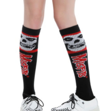 Misfits Black And Red Knee-High Socks