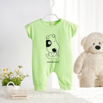 2016 Newborn Rompers  Cute Toddler Baby Girl Boy Dog Cat Jumpers baby clothes Playsuit Outfits Clothes 0-18M free shipping