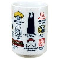 Spirited Away TeaCup Sushi Mug Studio Ghibli Japan handmade