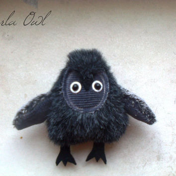 Marla owl , soft art  toy owl creature by  Wassupbrothers.