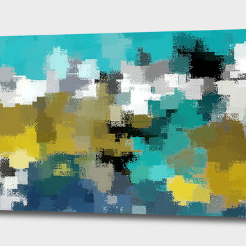«Turquoise and Gold» Canvas Print by David Manlove - Numbered Edition from $59 | Curioos