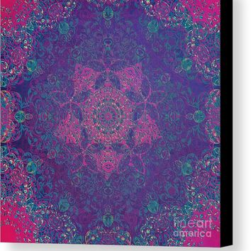 Magic Mandala Love Canvas Print