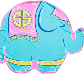 Simply Southern Elephant Round Towel