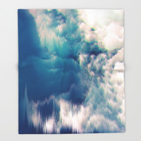Soft Water Throw Blanket by Printapix