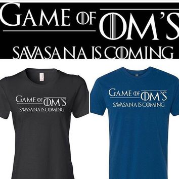 Game of oms   Savasana is coming   ..  for the yogi who lives game of thrones ! Father's Day - husband - dad - yogi in the nights watch