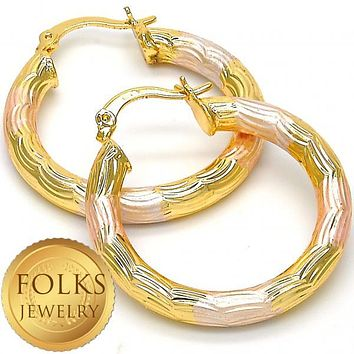 Gold Layered Women Hollow Small Hoop, by Folks Jewelry