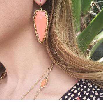 Skylar Earrings in Coral Magnesite - Kendra Scott Jewelry