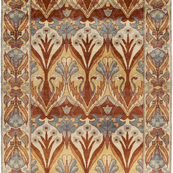 Surya Uncharted UND2005 Orange/Red Arts and Crafts Area Rug